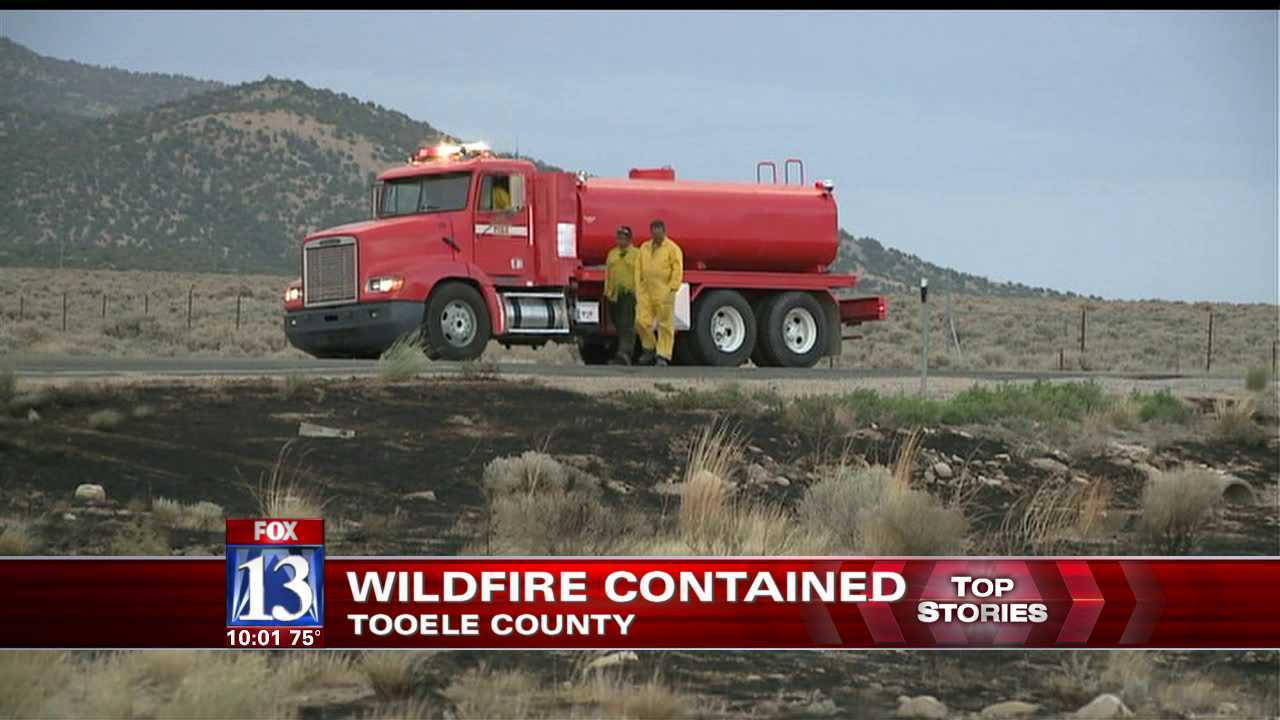 Crews contain 1500-acre Tooele County wildfire