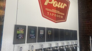 Pour Taproom allows you to be your own bartender with it's self-serve tap wall