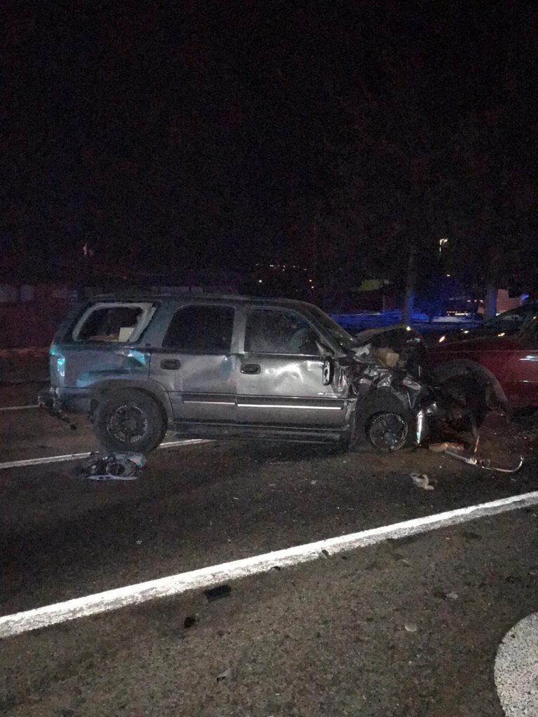 Photos: Two injured in crash nearLogan