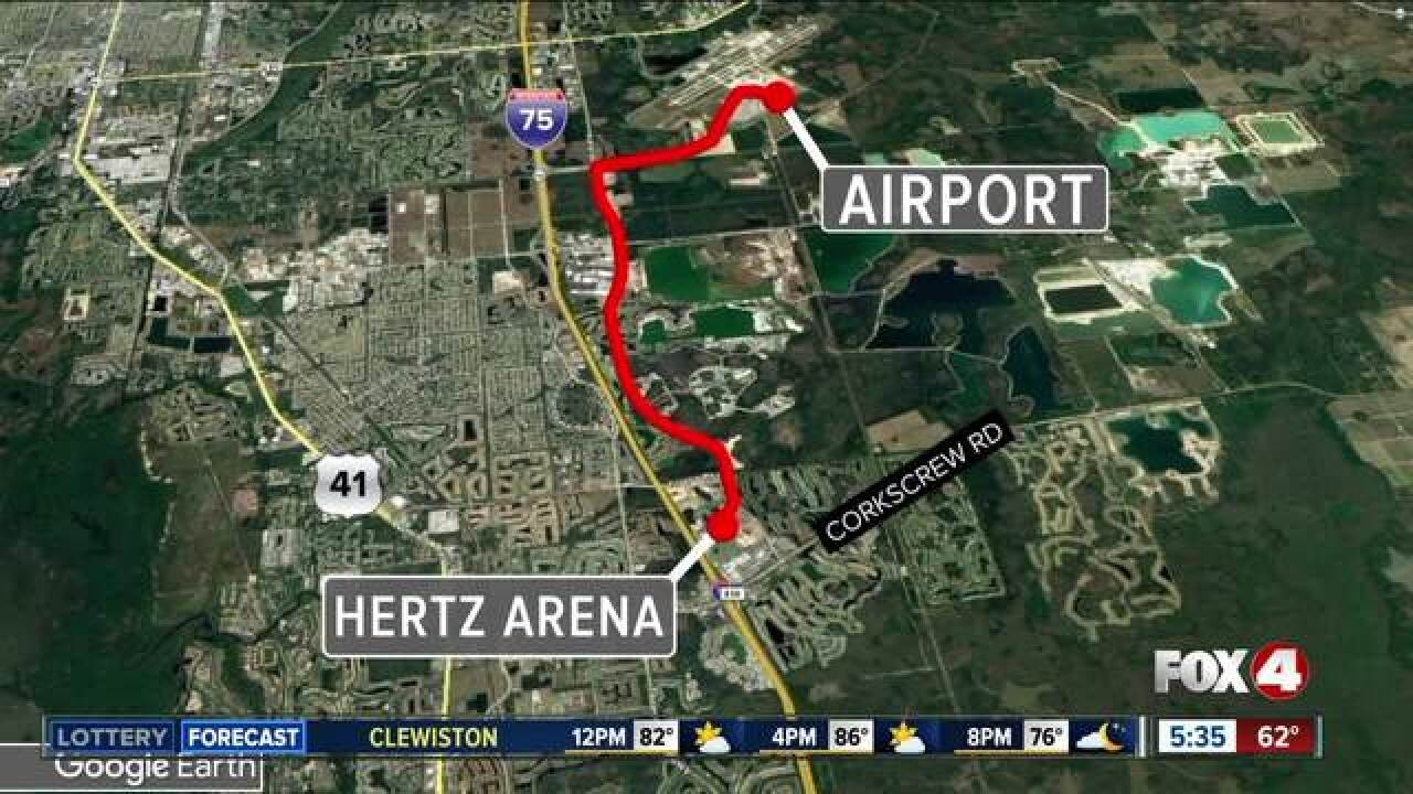 Possible routes Trump will take to Hertz Arena