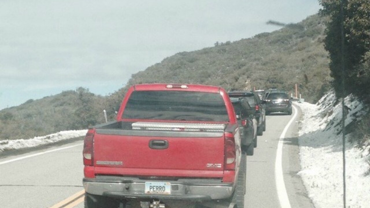 Traffic jammed as San Diegans head to snow