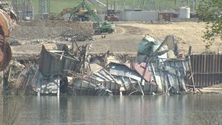 Former Beckjord plant site on April 20, 2021