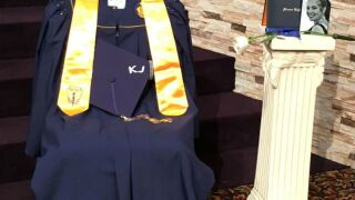 Prom night crash victim honored at Monroe High School graduation