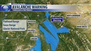 Backcountry avalanche warning issued for parts of Northwest Montana