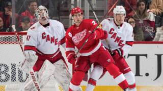 Red Wings shut out by Hurricanes for sixth straight loss
