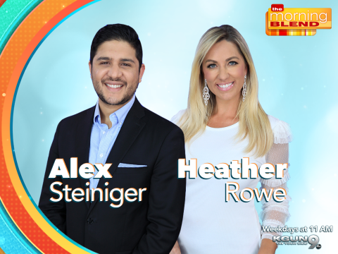 Alex Steiniger and Heather Rowe, hosts of the Tucson Morning Blend