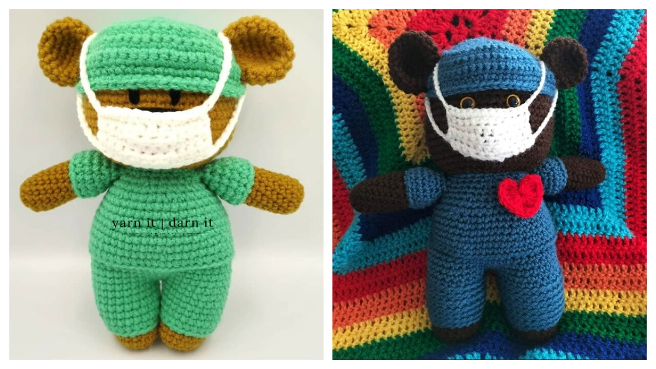 Crochet teddy bear Bearnando - Ecological Toy - DucknRabbit | 720x1280
