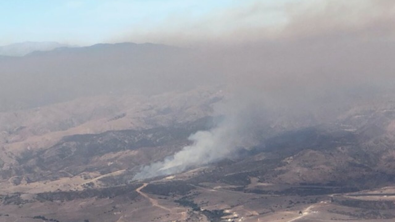 Fire breaks out at Camp Pendleton