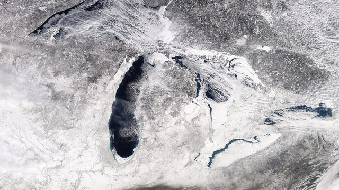 Stunning Photo Shows Total Great Lakes Ice Cover At 69 Percent