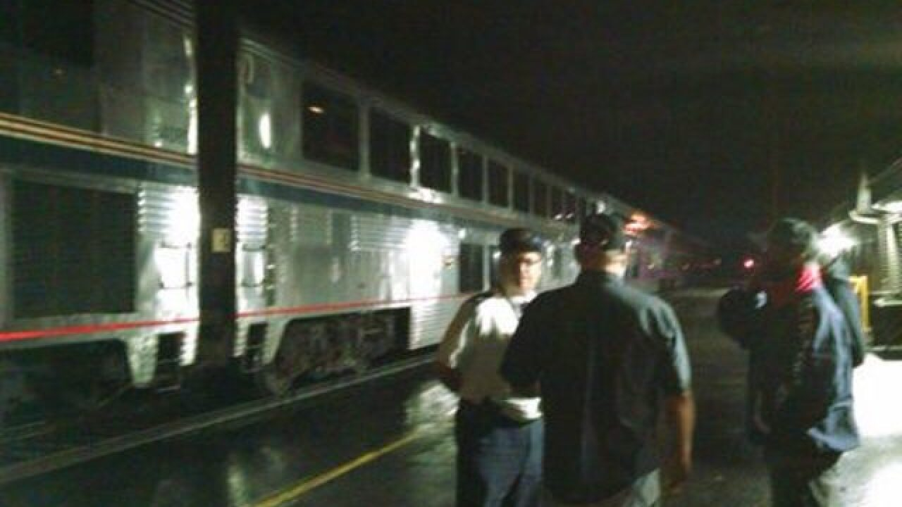15 Passengers stuck on Amtrak due to flooding