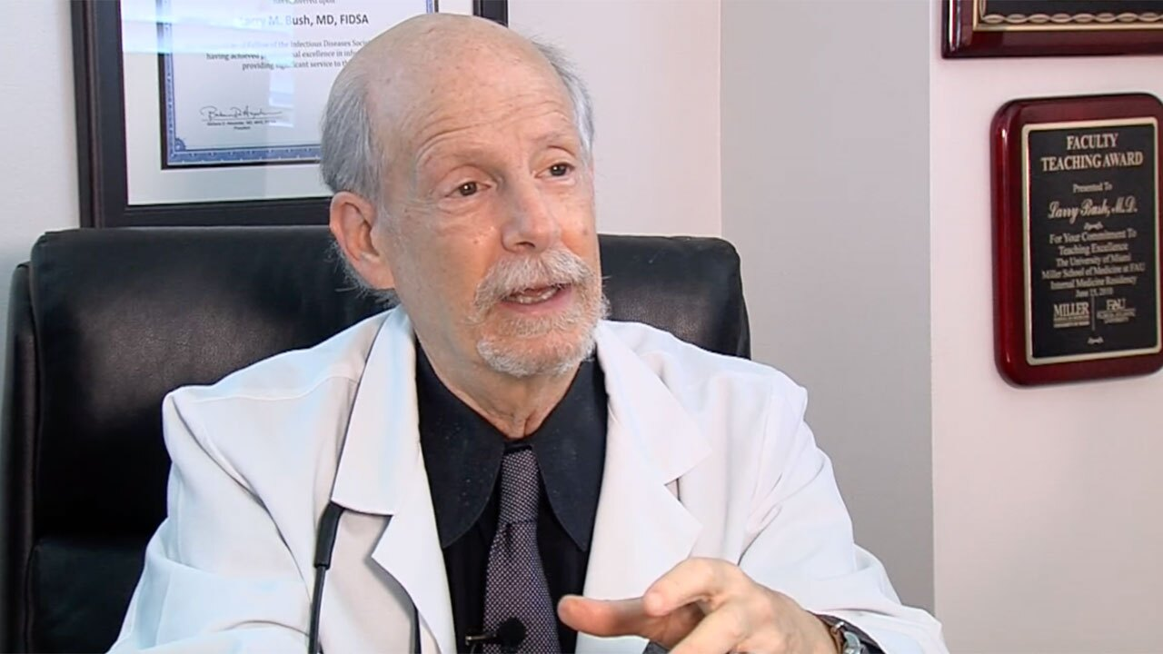 Dr. Larry Bush, infectious disease specialist in Wellington