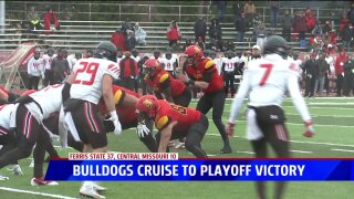Ferris State football routs Central Missouri to advance to quarterfinals