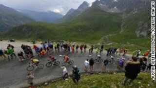 A stage of the Tour de France was stopped because of a snowstorm