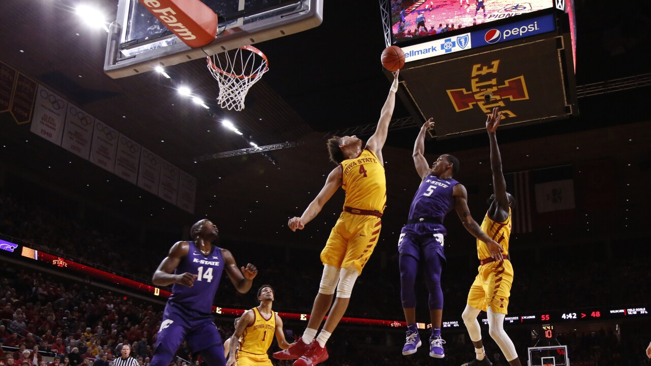 barry brown lifts kansas state over no 20 iowa state 58 57