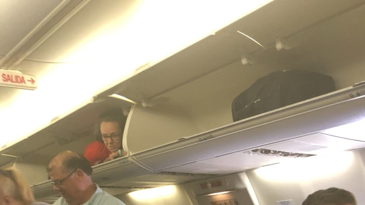 This flight attendant pulled a funny fast one on passengers