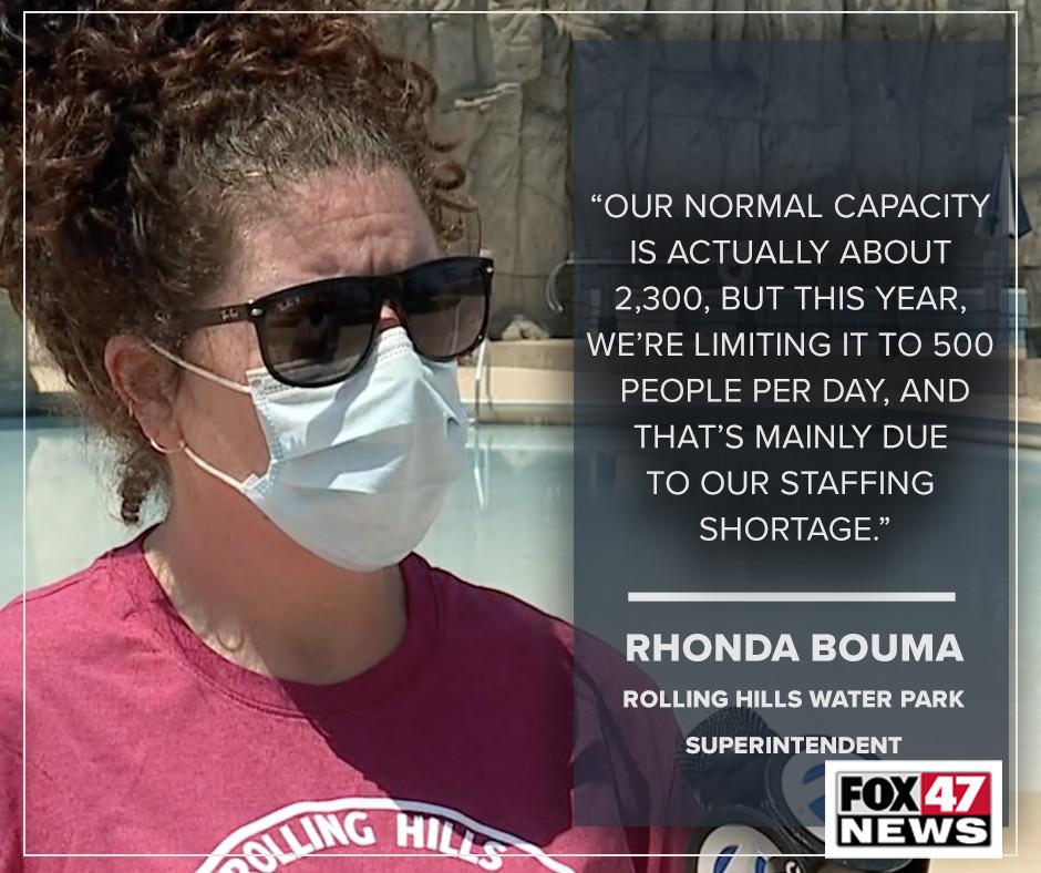 Rhonda Bouma, Rolling Hills Water Park superintendent