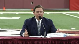 Gov. Ron DeSantis talks college athletics at Florida State University, Aug. 11, 2020
