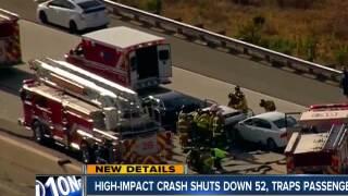 6 people injured in violent crash on the 52