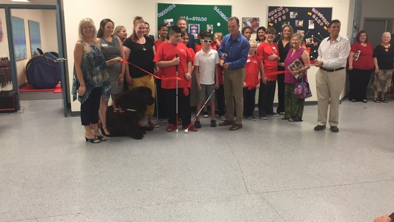 New learning center for the blind unveiled