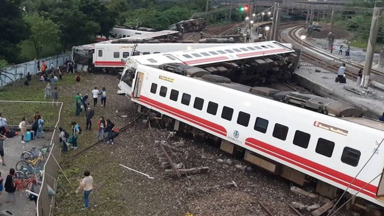At least 18 dead and 178 injured in Taiwan train derailment