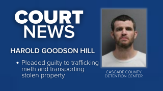 Harold Goodson Hill admitted in federal court in Great Falls on Thursday to trafficking methamphetamine and transporting stolen property