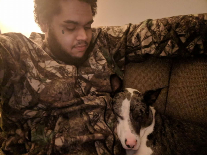 Tyler and his dog
