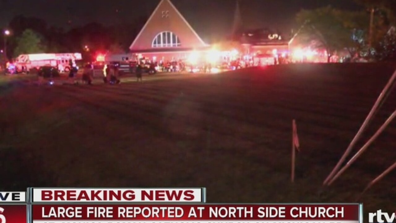 Parishioners keep faith after church burns