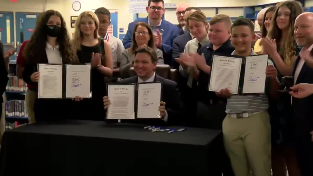 Florida Gov. Ron DeSantis holds an education news conference in Fort Myers.jpg