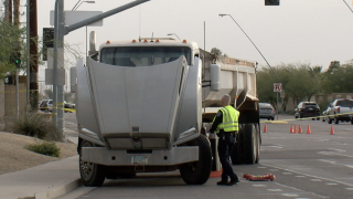 Child hit, killed by semi truck at Mesa intersection