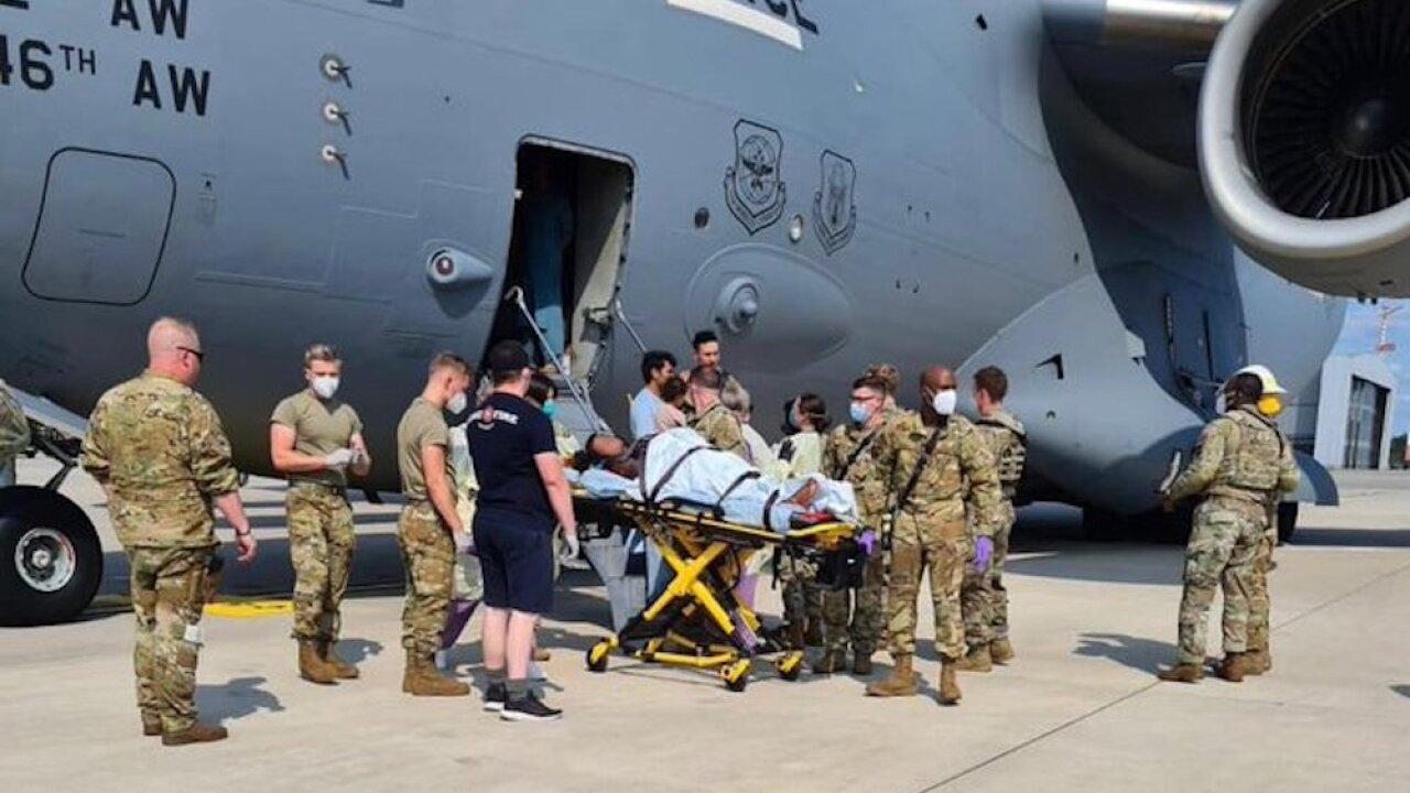 Afghanistan evacuee birth