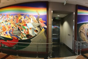 """Children of the World Dream of Peace"" DIA mural"