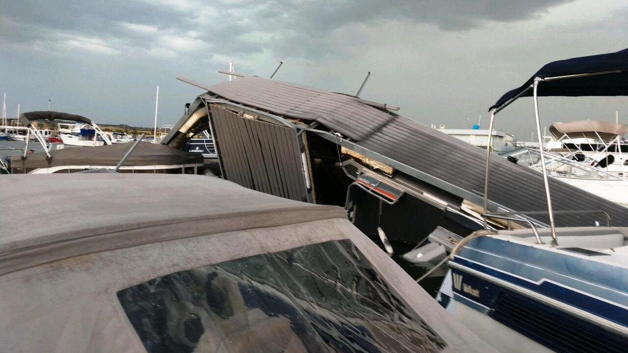 North Shore Marina damage