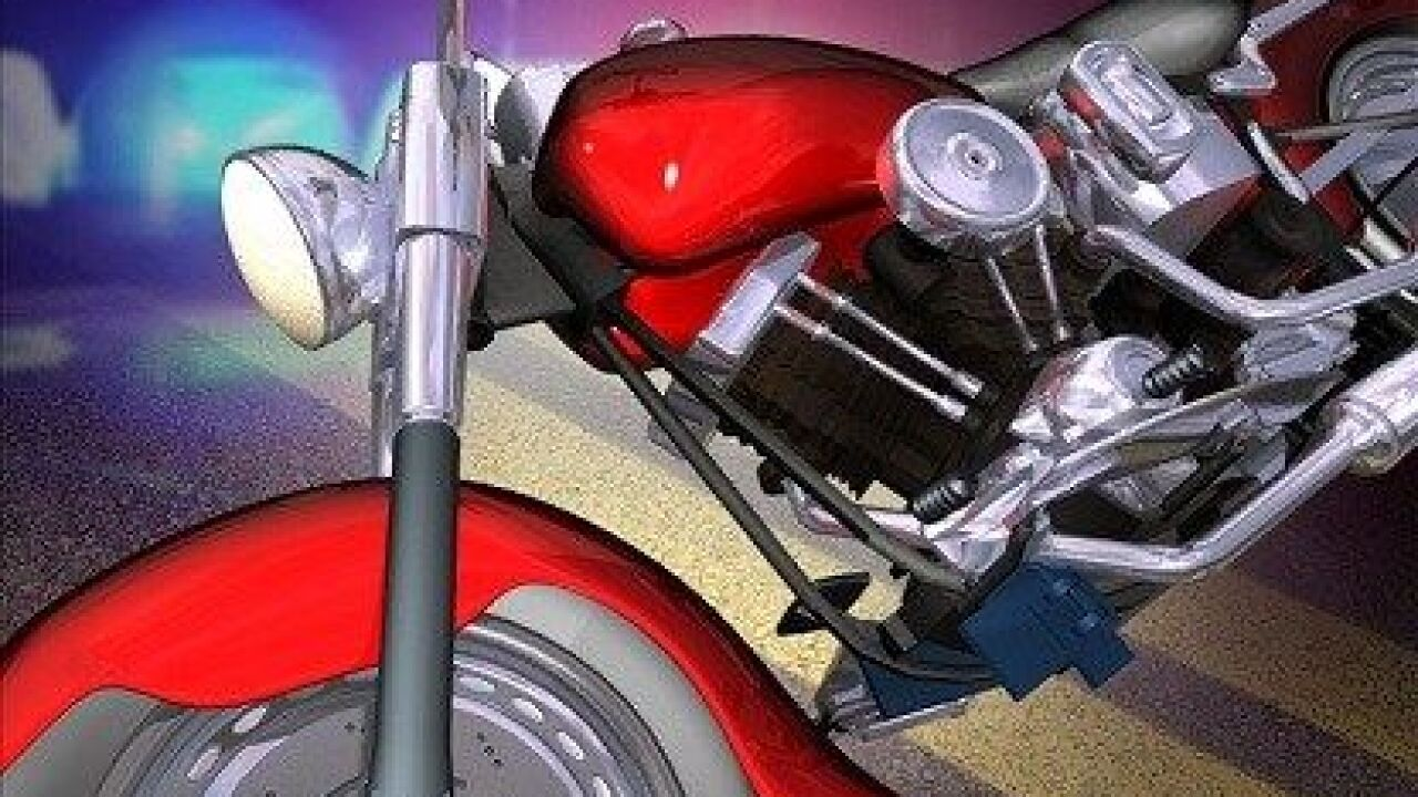 Man rushed to hospital after motorcycle accident