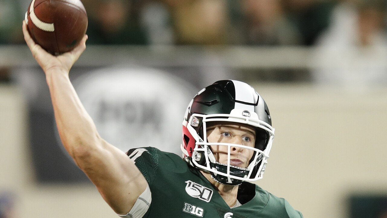 Brian Lewerke throws three TD passes, No. 19 Michigan State routs Western Michigan