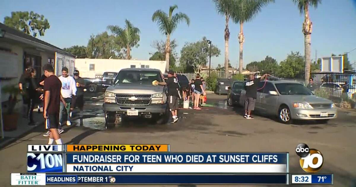 Car wash fundraiser for teen who died at Sunset Cliffs