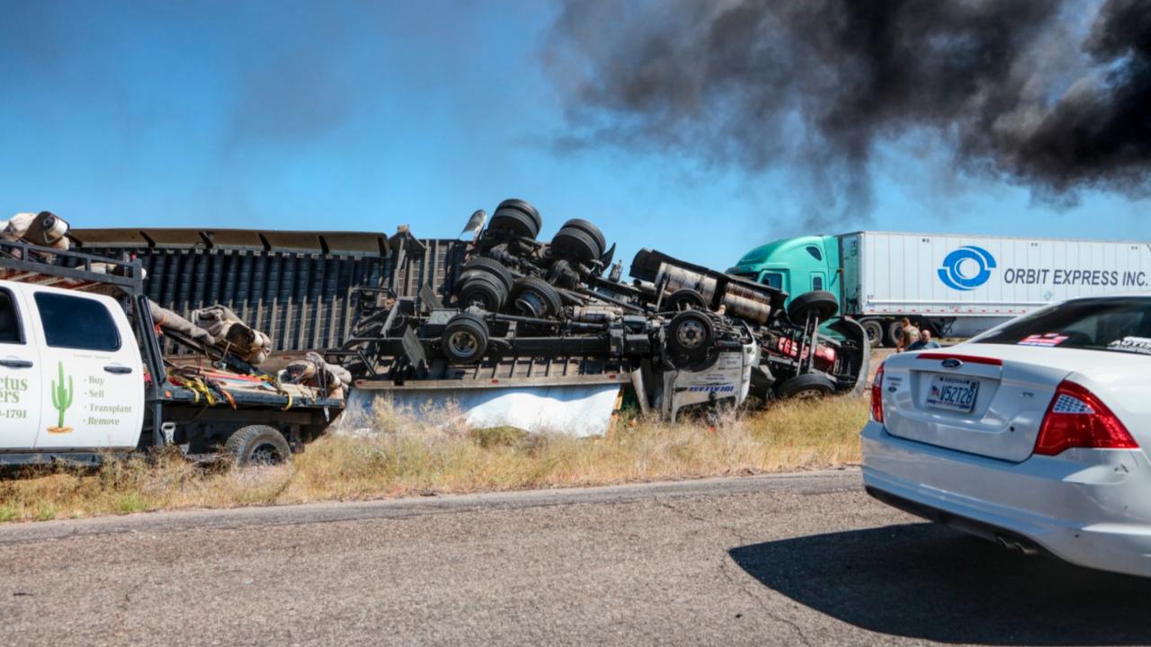 I-10 Semi Crash
