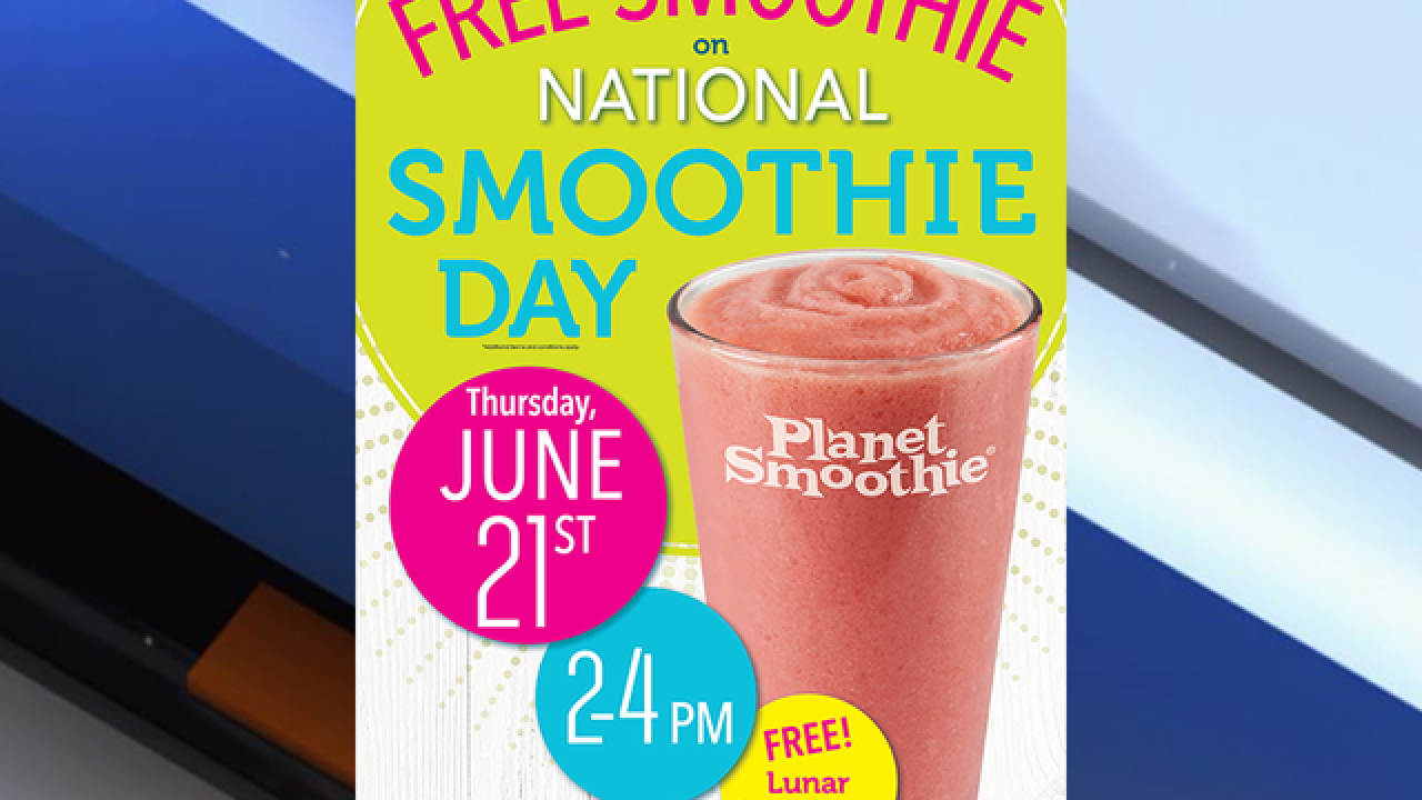 Get a free smoothie from Planet Smoothie