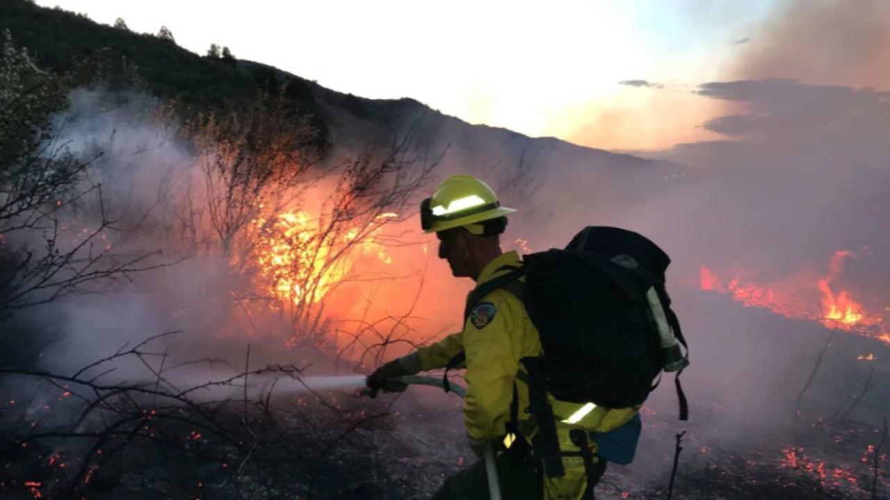 Deer Creek Canyon Park fire