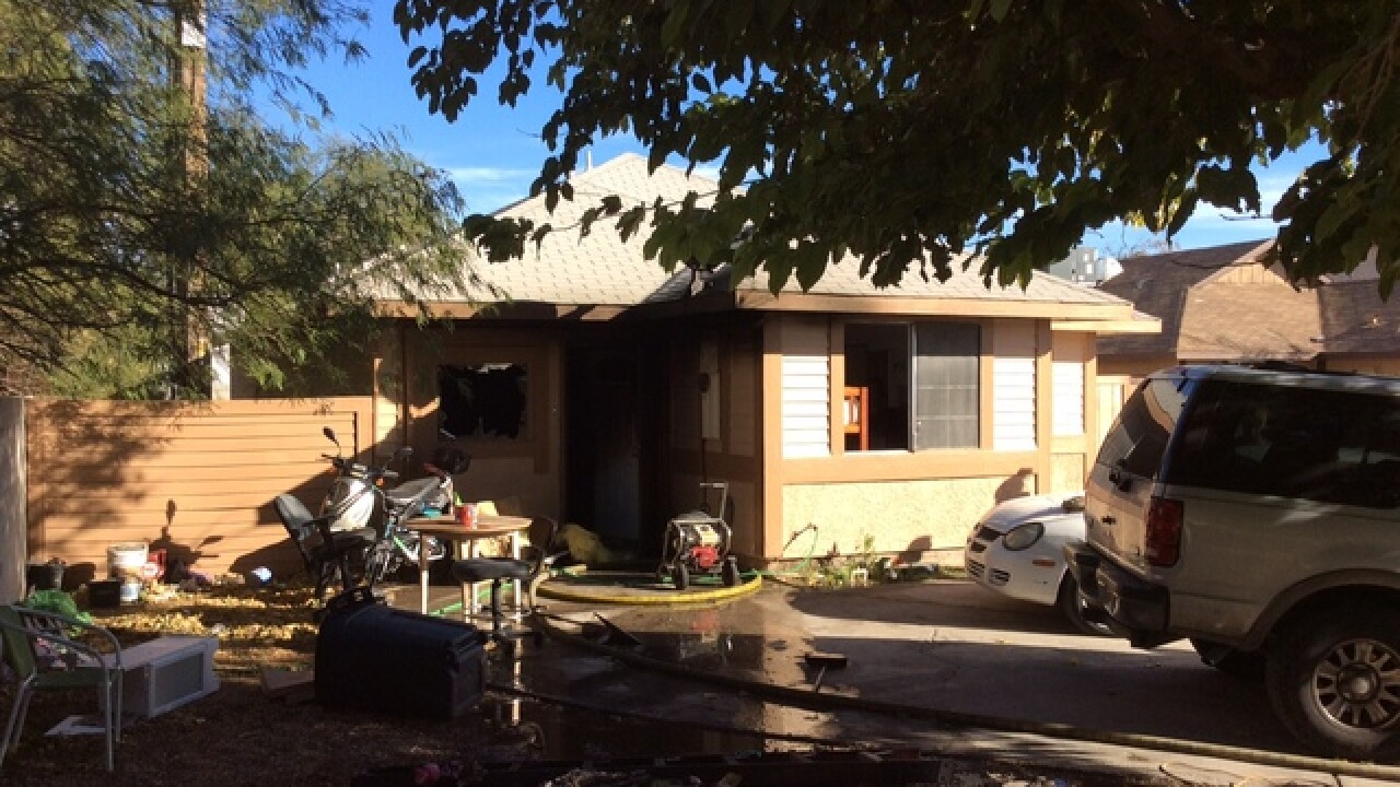 cat dies, family displaced after house fire