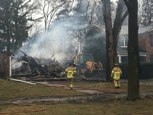 PHOTOS: Several Grosse Pointe homes destroyed in massive fire