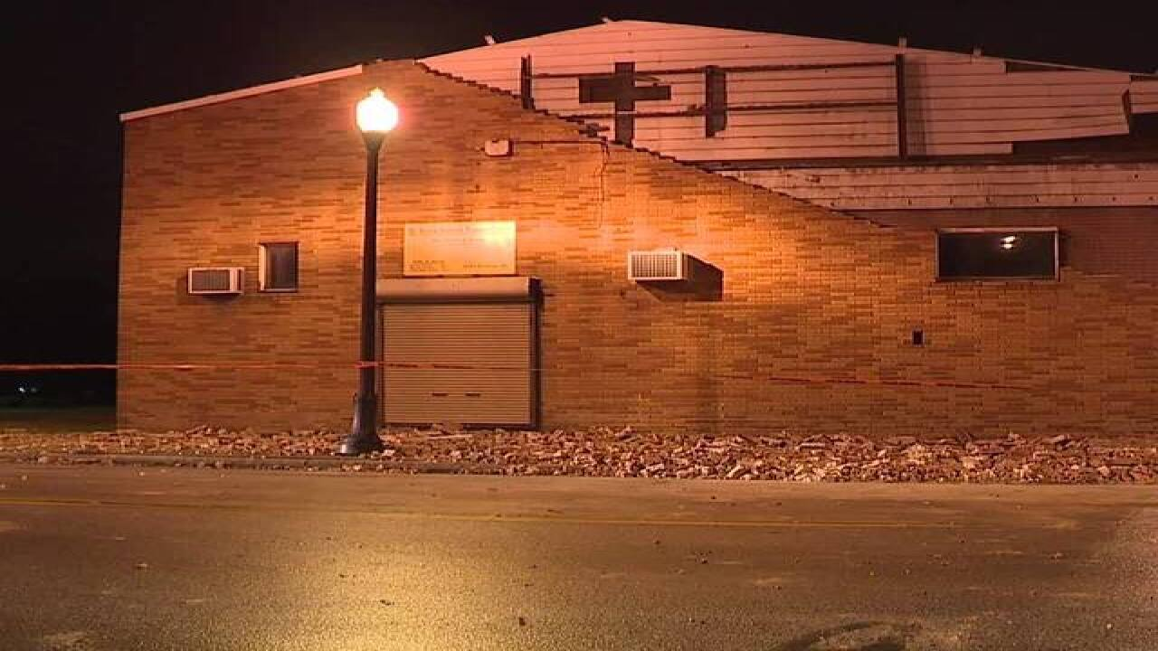 Two buildings partially collapse in Cleveland overnight due