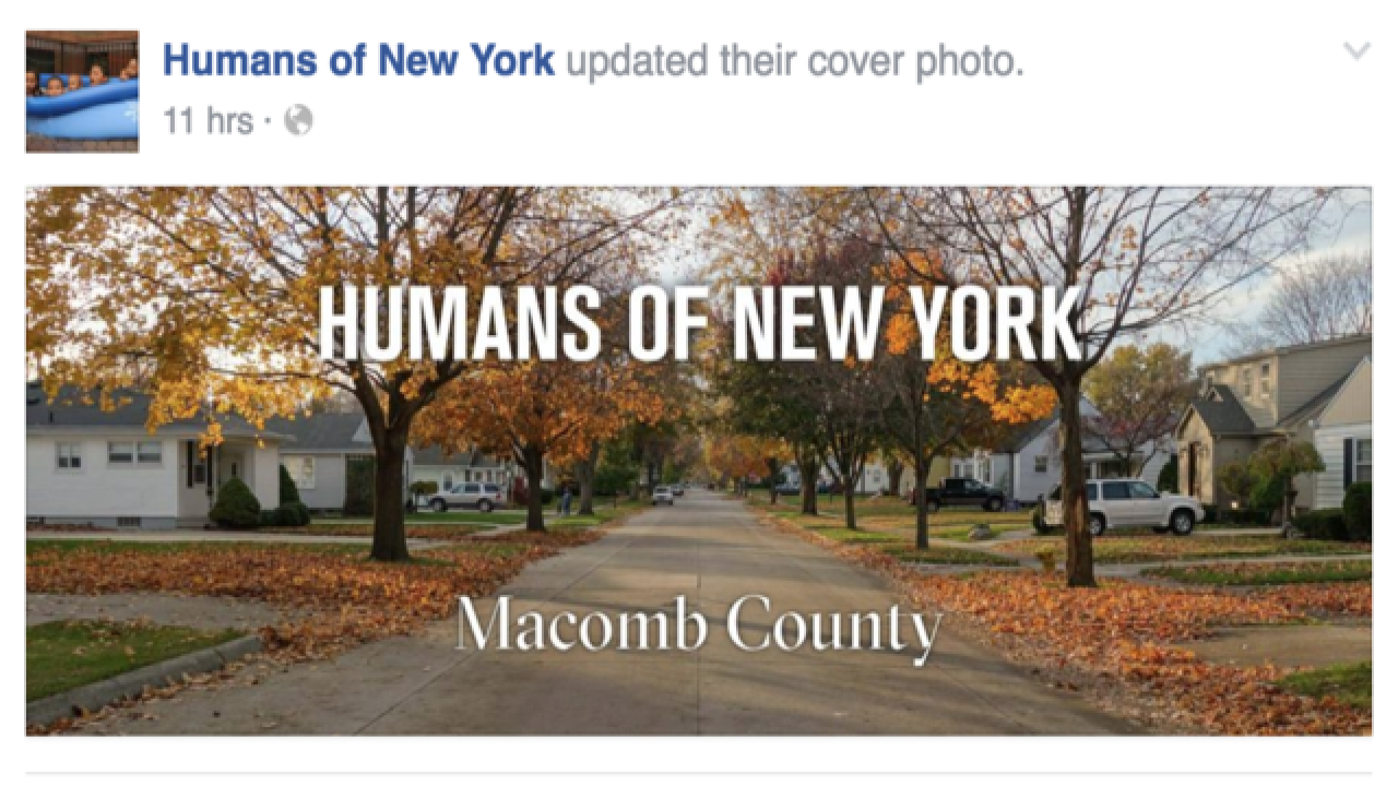 """Humans of New York"" blog exploring Macomb County"