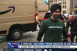 Amazon in Baltimore delivers 2,000 'boxes of smiles' to those in need