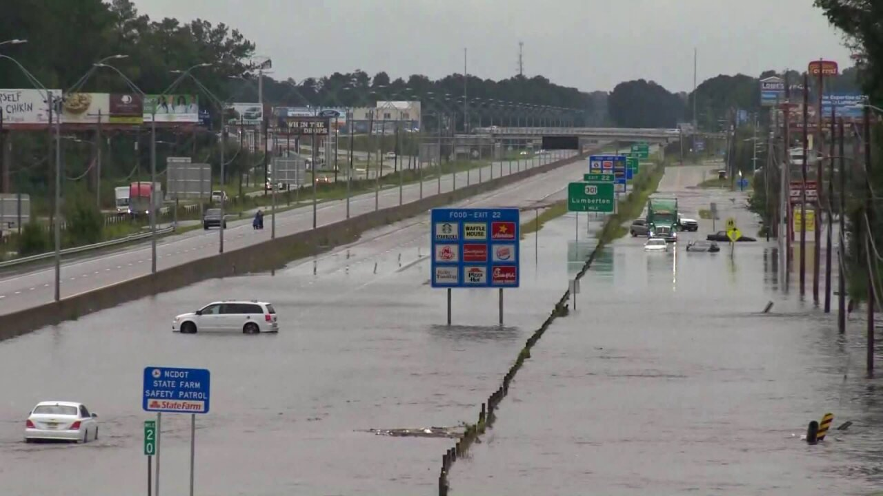 Avoid I-95: Drivers told to 'go around' North Carolina