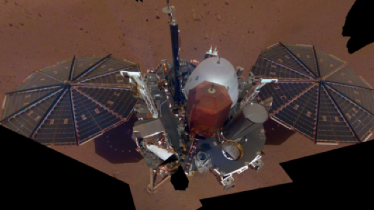NASA spacecraft 'InSight' posts selfie from Mars