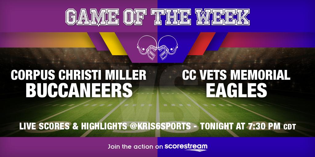 Corpus Christi Miller_vs_CC Vets Memorial_twitter_neutralHeadToHead.png