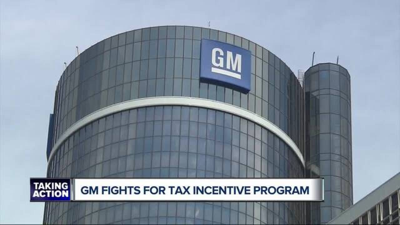 General Motors fighting to retain tax incentives