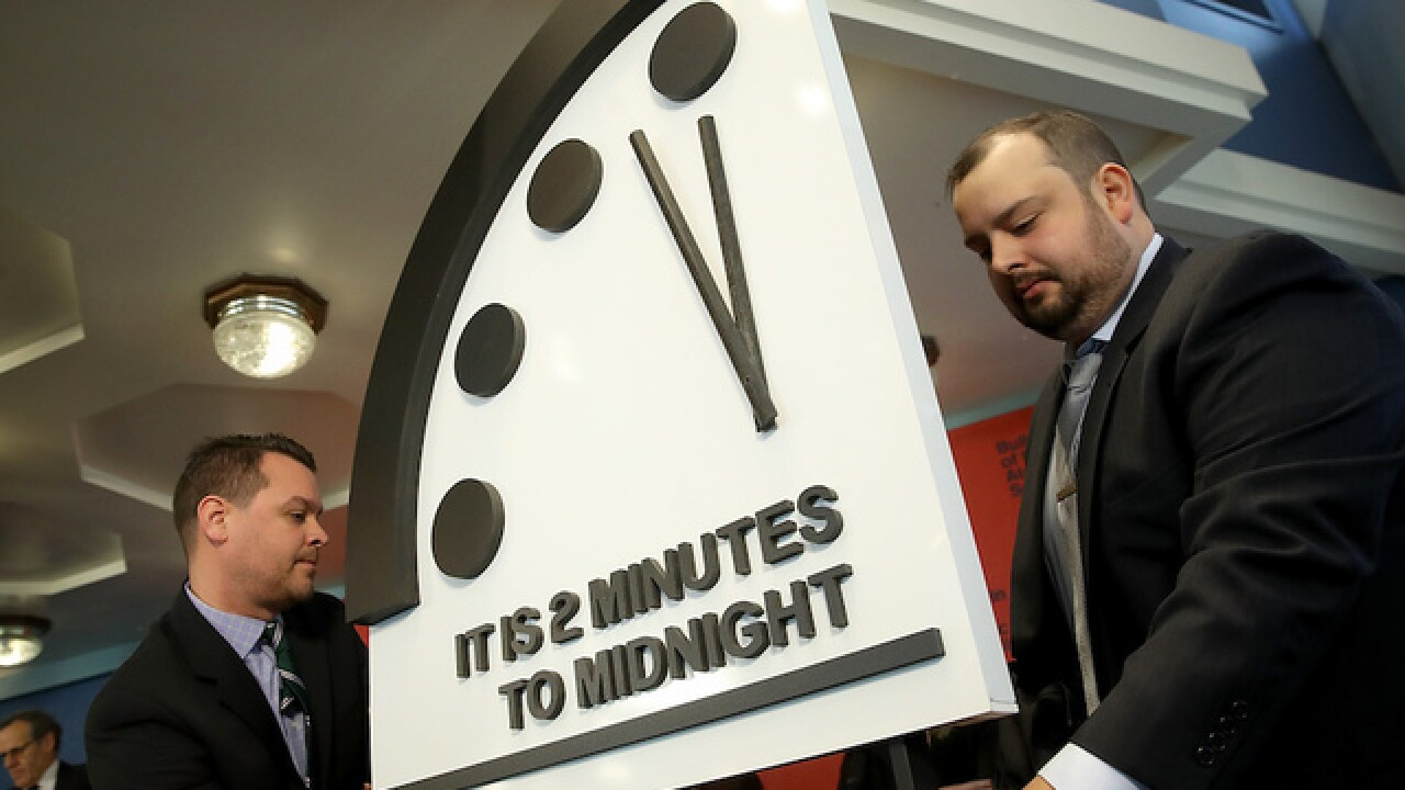 'Doomsday clock' ticks closer to apocalyptic midnight