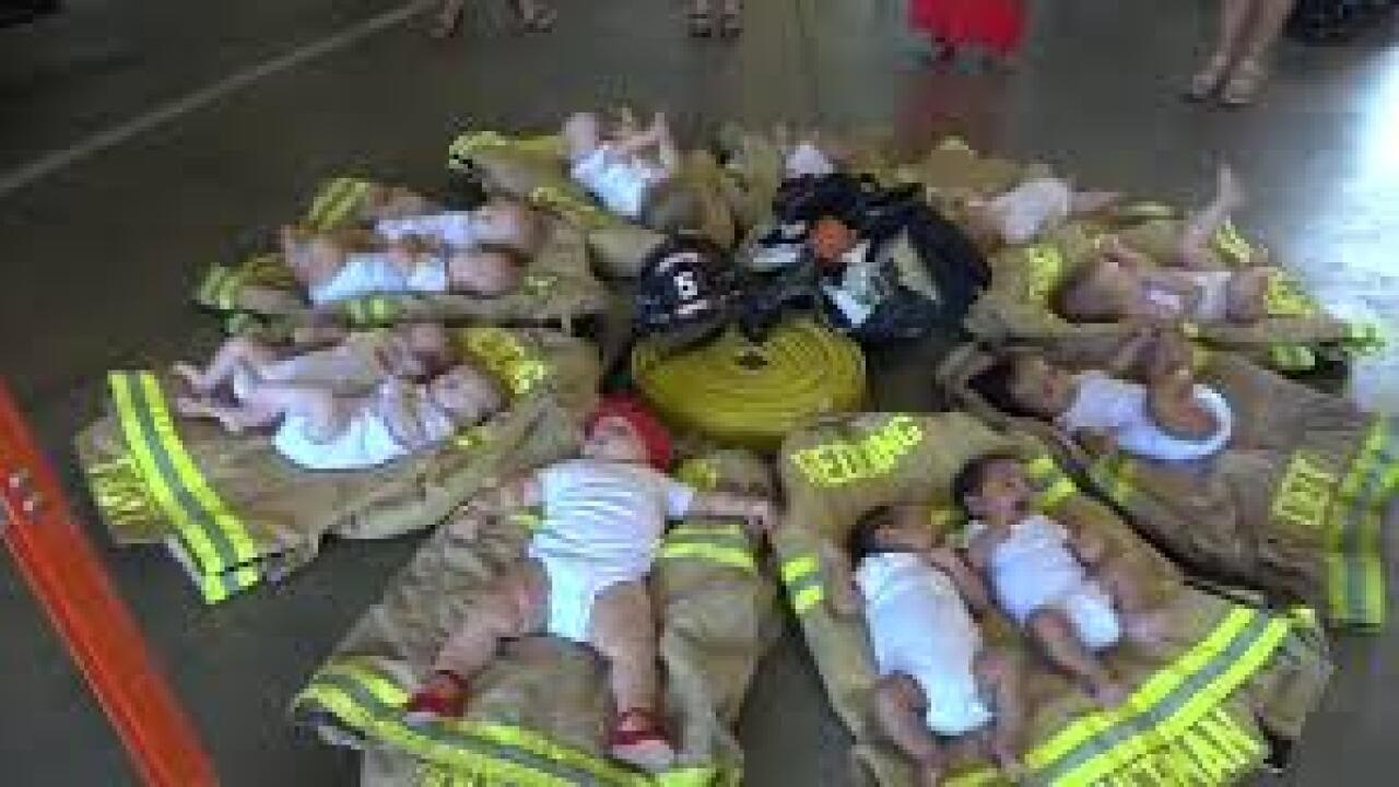 12 babies from one fire station