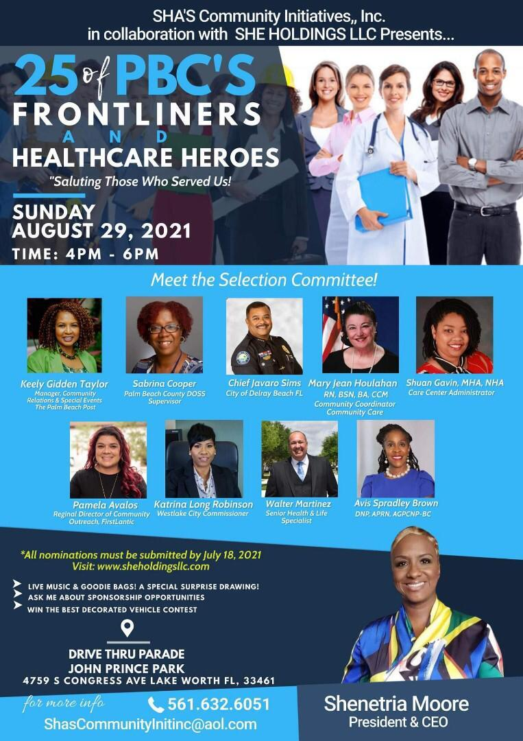 Doctors, nurses, grocery store workers, county officials, law enforcement and teachers will be honored.